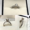 Ladies Round Diamond Engagement Ring